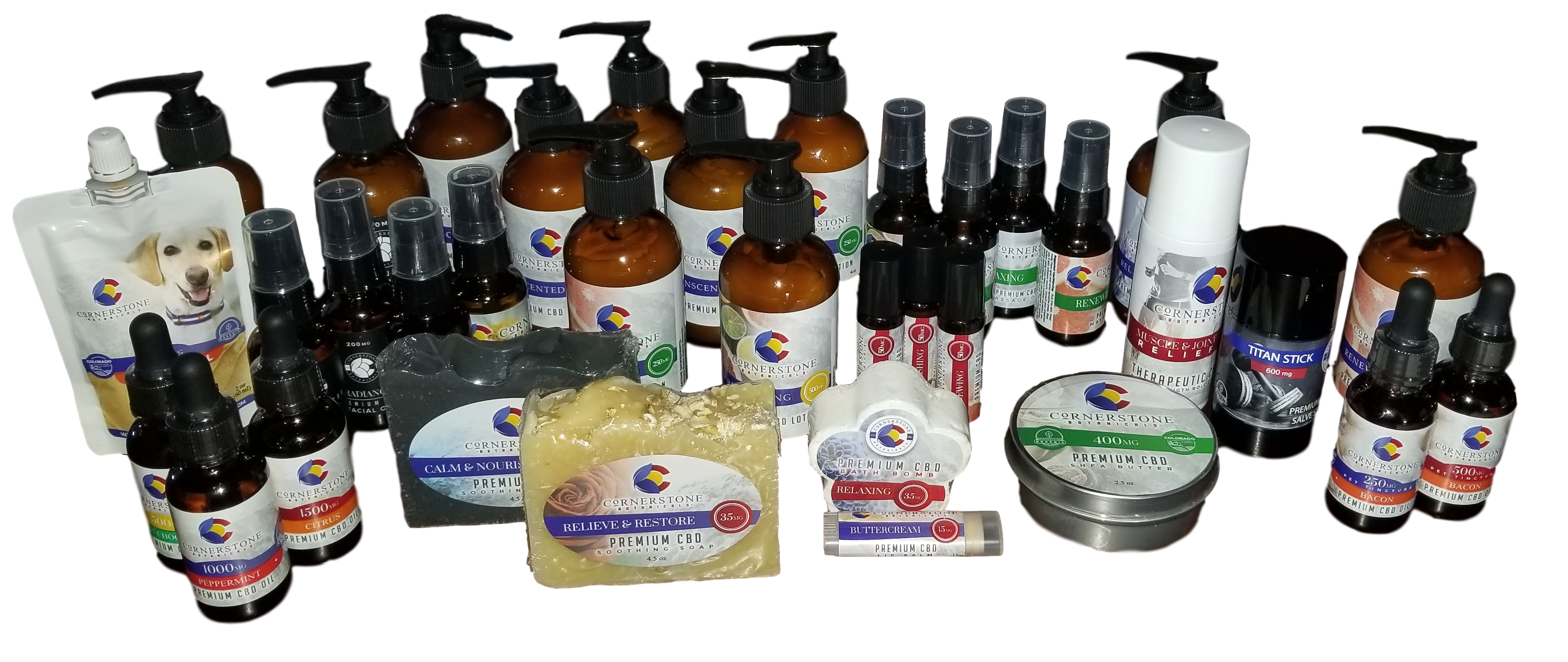 Cornerstone Botanicals Product Line-up
